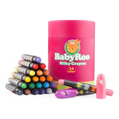 Κηρομπογιές soft Baby Roo σετ 24 χρωμ. Washable JarMelo